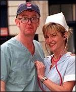 Chris Evans and Anthea Turner