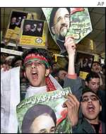 Young supporters of President Khatami