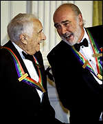 Borge sharing a joke with Sean Connery