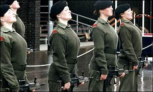 Female army trainees