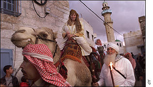 Christian pilgrims from all over the world re-enact the journey of the Magi