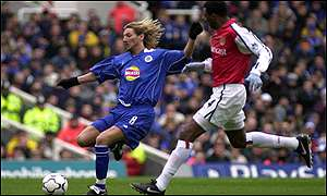 Robbie Savage and Patrick Vieira