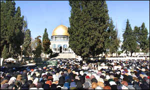 Israeli forces imposed tight age restrictions limiting who could pray at the mosque