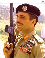 The late King Hussein of Jordan