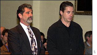 Robert Downey Jr, right, and his lawyer Daniel Brookman