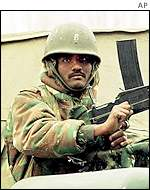 Soldier in Indian-administered Kashmir
