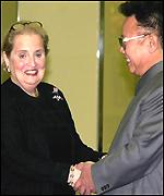 Mrs Albright and Kim Jong-il