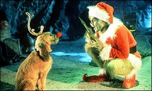 Jim Carrey in Dr Seuss' How The Grinch Stole Christmas