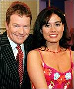 Jim Davidson and Melanie Stace