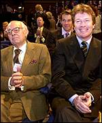 Sir Denis Thatcher and Jim Davidson