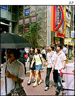 Shoppers in Tokyo's Shibuya district