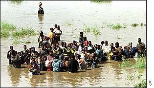 Flood victims in Mozambique