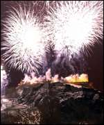 Edinburgh Castle fireworks