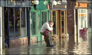 Flooding in Shrewsbury