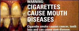 Canadian health warning for smokers