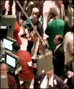 Traders on the trading floor at NYSE