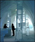 Gallery in the ice hotel