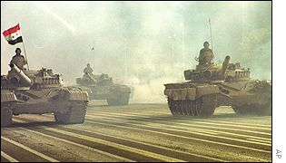 Tanks roll down Baghdad's Grand Celebrations Ground