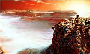 Artist's impression of Mars exploration Nasa