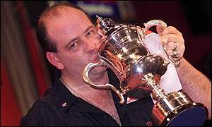 Ted Hankey celebrates his win in 2000