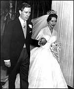 Margaret marrying Antony Armstrong-Jones in 1960