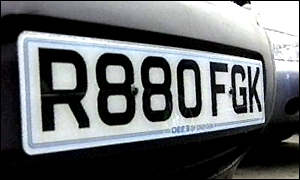 Assigning a number plate