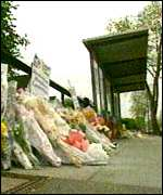 [ image: Flowers where Stephen died]