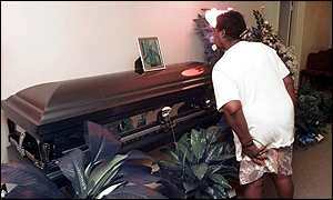 Coffin of James Byrd Jr.