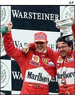 Michael Schumacher and Luca Baldisserri, drivers
