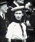 Princess Margaret in a Sea Ranger uniform