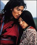 Rebel lovers Jen and Lo in Crouching Tiger, Hidden Dragon