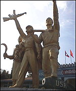 Statue in the Lao capital Vientiane