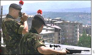 British soldiers in Kosovo