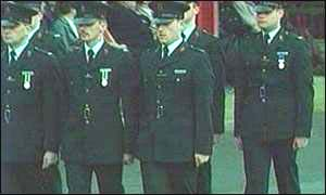 RUC officers on parade