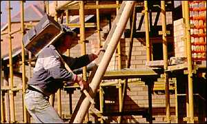 Labourer on a building site