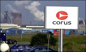 Corus's Llanwern steelworks in south Wales