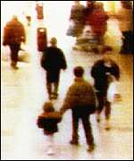 CCTV footage of the abduction of Jamie Bulger