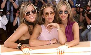 Nicole Appleton (left), Melanie Blatt and Natalie Appleton starred in the movie flop Honest