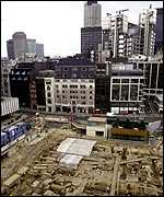 The site in the City of London