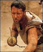 Russell Crowe in Gladiator - one of 2000's most notable blockbuster