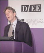 michael wills at the Bett 2001 show