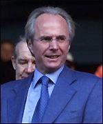 Sven Goran Eriksson on a scouting mission