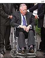 Pinochet in wheelchair