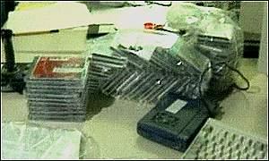 Полиция захватила большое количество детской порнографии.