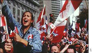 Quebec demonstration for unification with Canada