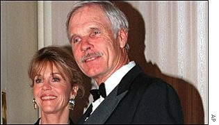 Ted Turner with his wife