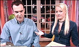 Johnny Vaughan and Denise Van Outen