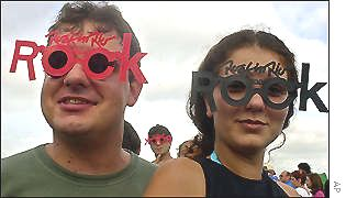 Festival-goers arrive at Rock in Rio