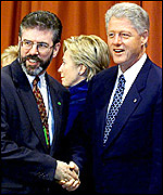 Bill Clinton and Sinn Fein leader Gerry Adams