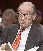 Alan Greenspan, the chairman of the Federal Reserve